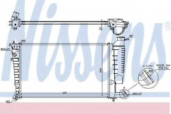 Радиатор охлаждения двигателя NISSENS 61313 - изображение