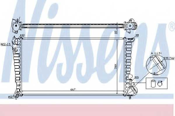 Радиатор охлаждения двигателя NISSENS 61315 - изображение