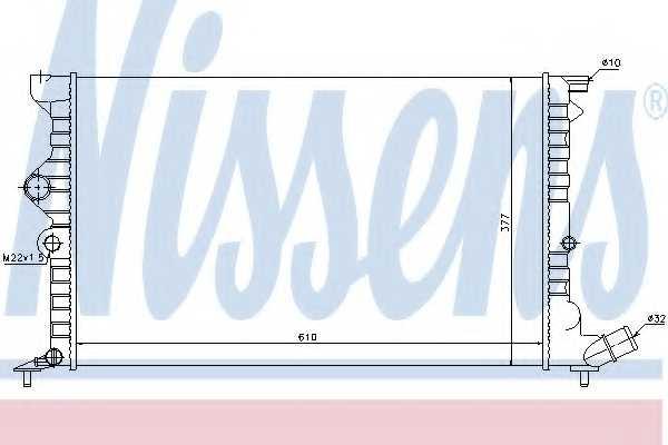 Радиатор охлаждения двигателя NISSENS 61383 - изображение