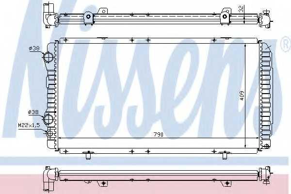 Радиатор охлаждения двигателя NISSENS 61390 - изображение