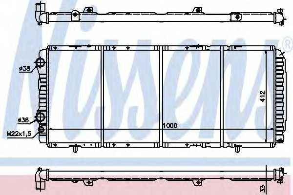 Радиатор охлаждения двигателя NISSENS 61393 - изображение