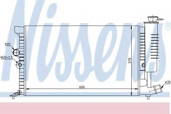 Радиатор охлаждения двигателя NISSENS 61399A - изображение