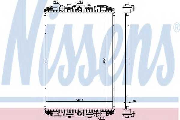Радиатор охлаждения двигателя NISSENS 614170 - изображение