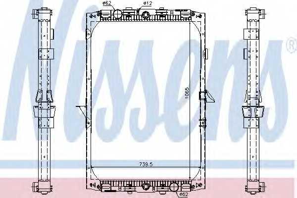 Радиатор охлаждения двигателя NISSENS 61417A - изображение