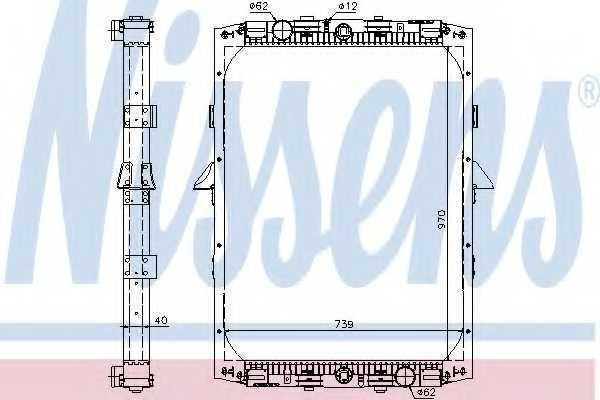 Радиатор охлаждения двигателя NISSENS 61419A - изображение