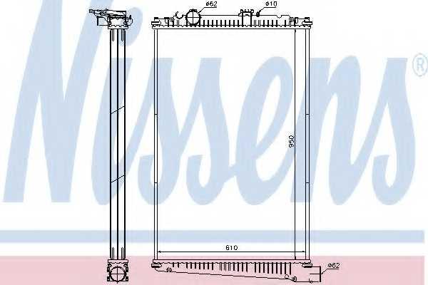Радиатор охлаждения двигателя NISSENS 614420 - изображение