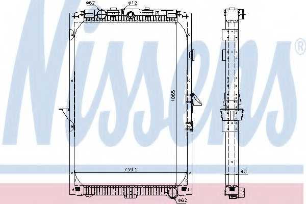 Радиатор охлаждения двигателя NISSENS 61447 - изображение