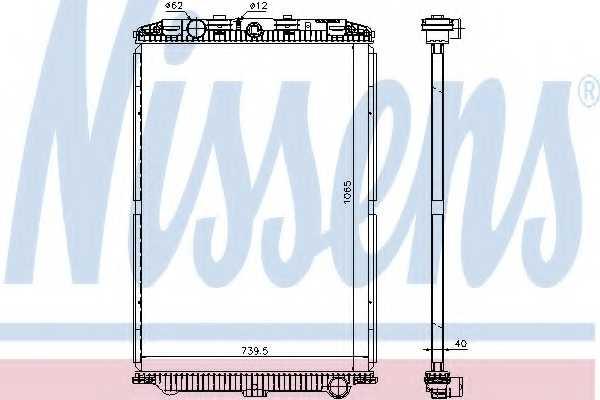 Радиатор охлаждения двигателя NISSENS 614470 - изображение