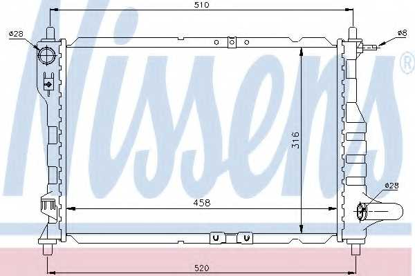 Радиатор охлаждения двигателя NISSENS 61630 - изображение