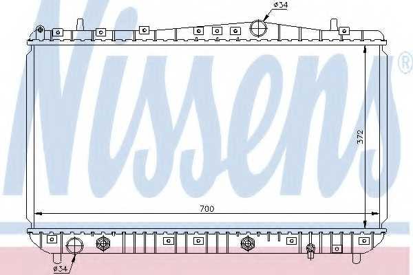 Радиатор охлаждения двигателя NISSENS 61634 - изображение