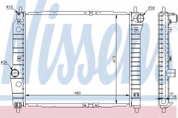 Радиатор охлаждения двигателя NISSENS 61636 - изображение