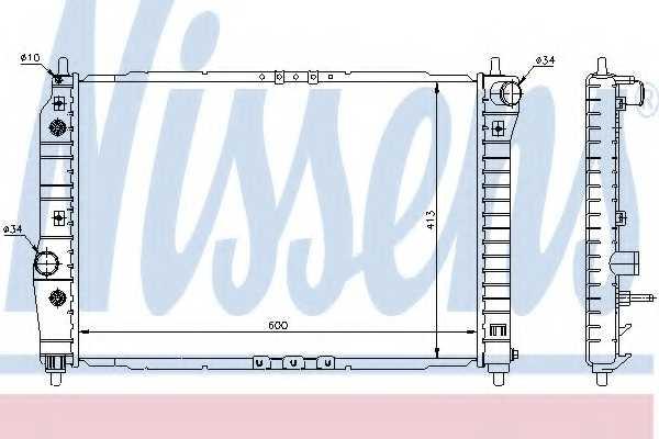 Радиатор охлаждения двигателя NISSENS 61637 - изображение