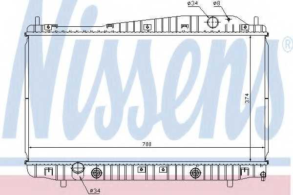 Радиатор охлаждения двигателя NISSENS 61639 - изображение