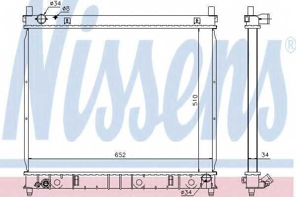 Радиатор охлаждения двигателя NISSENS 61642 - изображение