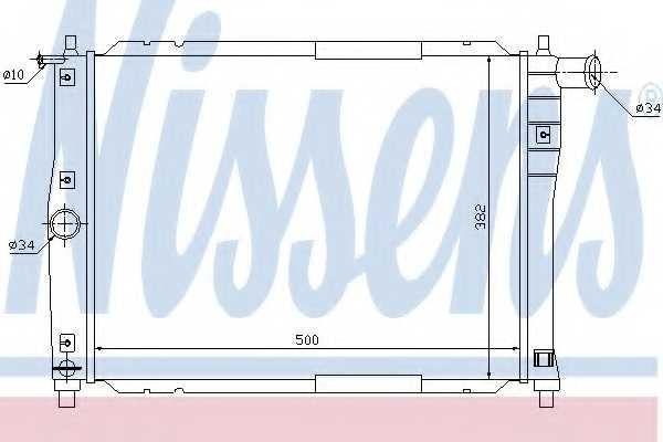 Радиатор охлаждения двигателя NISSENS 61644 - изображение