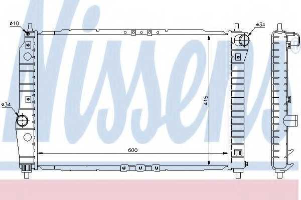 Радиатор охлаждения двигателя NISSENS 61645 - изображение