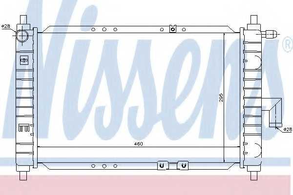 Радиатор охлаждения двигателя NISSENS 61646 - изображение