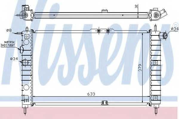 Радиатор охлаждения двигателя NISSENS 61651A - изображение
