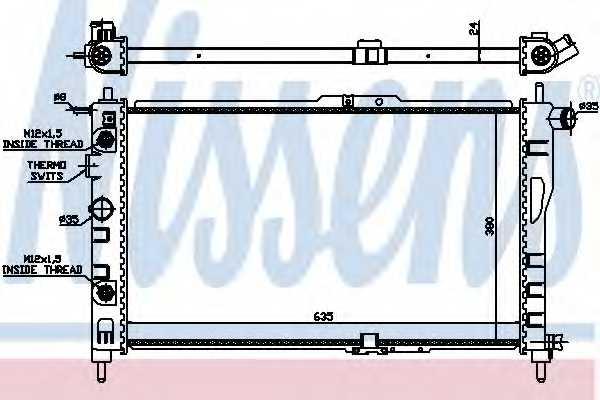 Радиатор охлаждения двигателя NISSENS 616521 - изображение