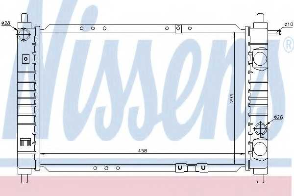 Радиатор охлаждения двигателя NISSENS 61653 - изображение