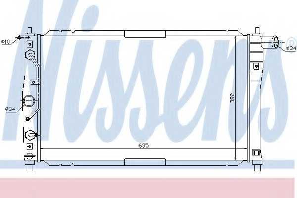 Радиатор охлаждения двигателя NISSENS 616551 - изображение