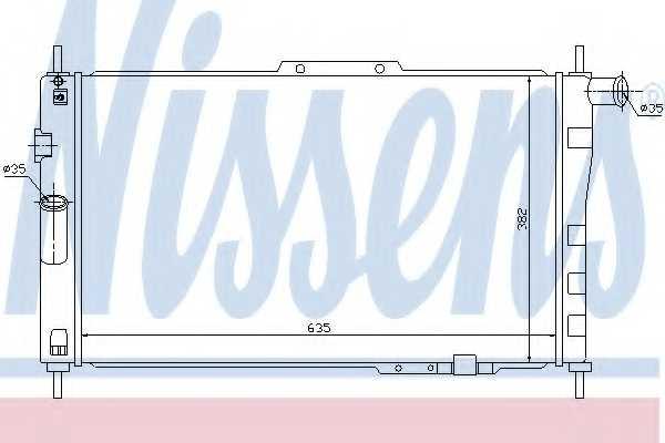Радиатор охлаждения двигателя NISSENS 61656 - изображение
