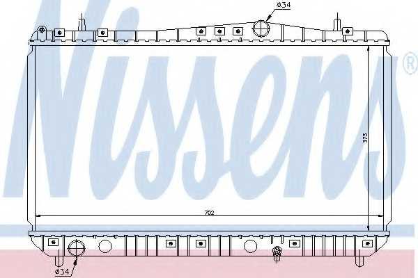Радиатор охлаждения двигателя NISSENS 61664 - изображение