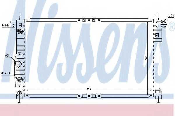 Радиатор охлаждения двигателя NISSENS 616671 - изображение