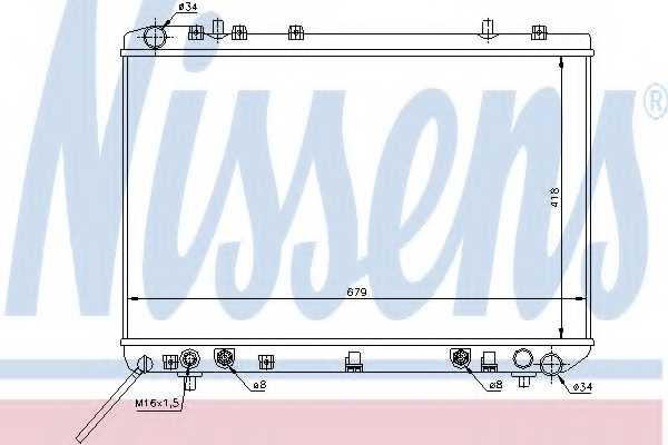 Радиатор охлаждения двигателя NISSENS 61669 - изображение