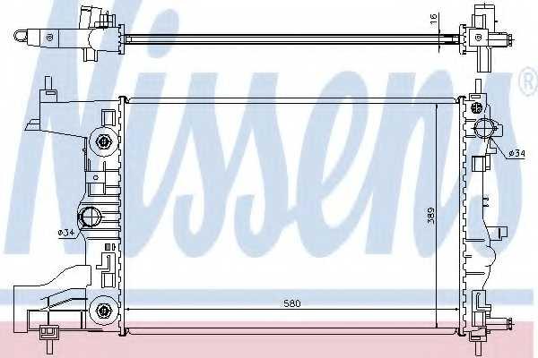 Радиатор охлаждения двигателя NISSENS 61677 - изображение