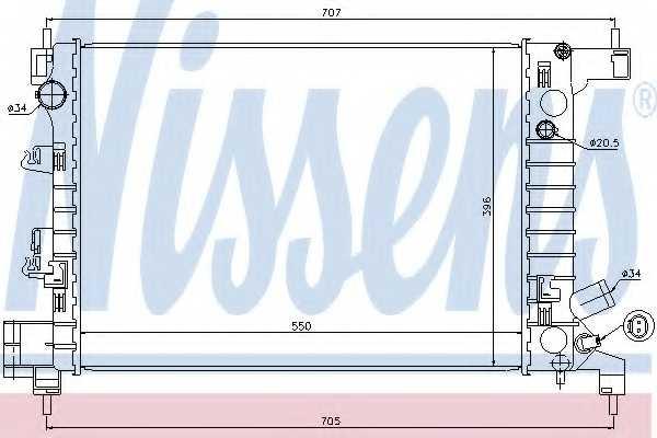 Радиатор охлаждения двигателя NISSENS 61678 - изображение