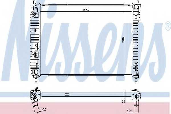 Радиатор охлаждения двигателя NISSENS 61688 - изображение