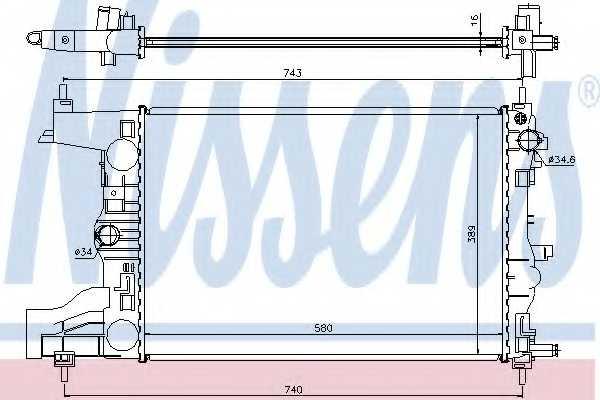 Радиатор охлаждения двигателя NISSENS 616903 - изображение