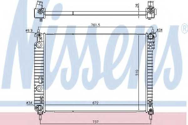 Радиатор охлаждения двигателя NISSENS 616905 - изображение