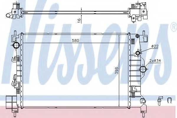 Радиатор охлаждения двигателя NISSENS 61697 - изображение