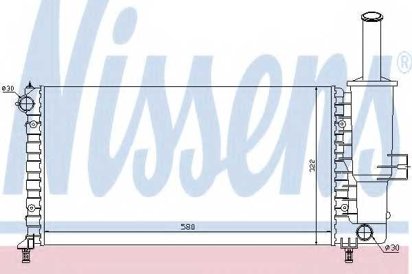 Радиатор охлаждения двигателя NISSENS 61764 - изображение