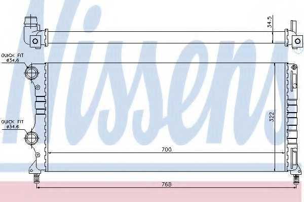 Радиатор охлаждения двигателя NISSENS 61765 - изображение