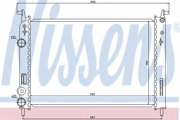 Радиатор охлаждения двигателя NISSENS 61782 - изображение