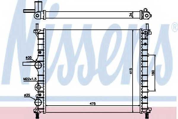 Радиатор охлаждения двигателя NISSENS 61786 - изображение
