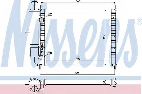 Радиатор охлаждения двигателя NISSENS 61808 - изображение