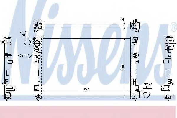 Радиатор охлаждения двигателя NISSENS 61875A - изображение