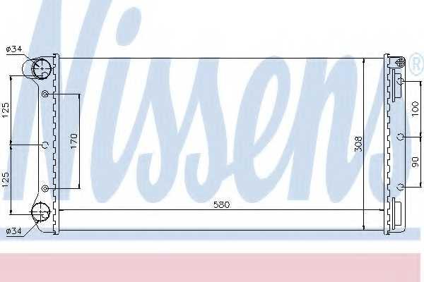 Радиатор охлаждения двигателя NISSENS 61899 - изображение