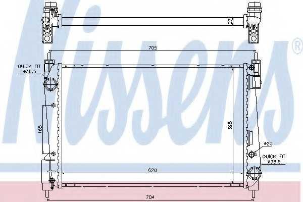 Радиатор охлаждения двигателя NISSENS 61915 - изображение