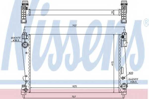 Радиатор охлаждения двигателя NISSENS 61916 - изображение