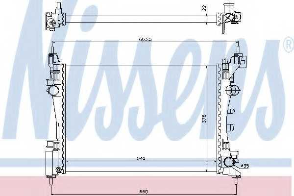 Радиатор охлаждения двигателя NISSENS 61918 - изображение