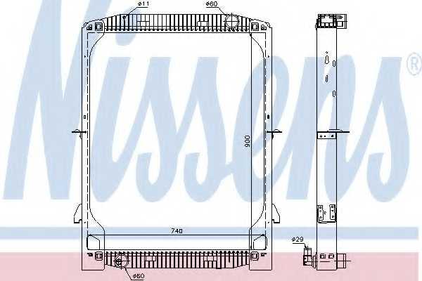 Радиатор охлаждения двигателя NISSENS 61971A - изображение