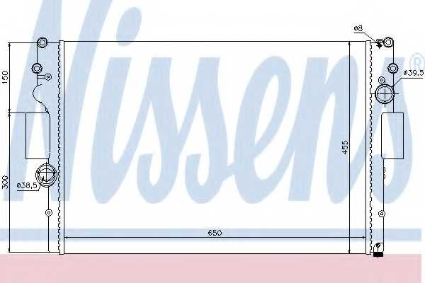 Радиатор охлаждения двигателя NISSENS 61981 - изображение