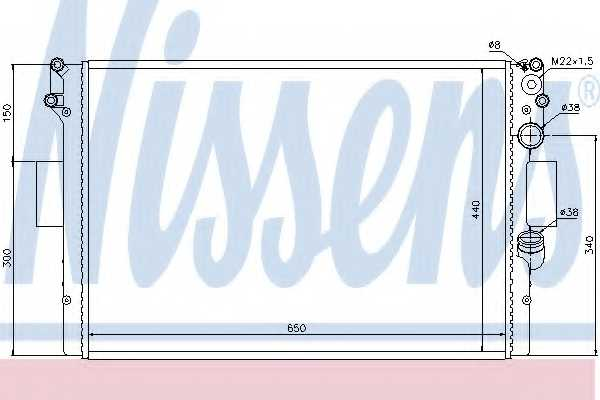 Радиатор охлаждения двигателя NISSENS 61985 - изображение