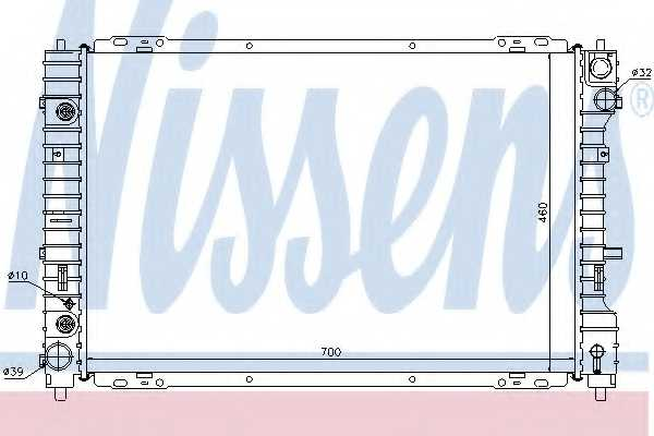 Радиатор охлаждения двигателя NISSENS 62003 - изображение