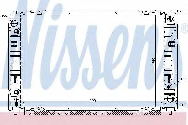 Радиатор охлаждения двигателя NISSENS 62004 - изображение